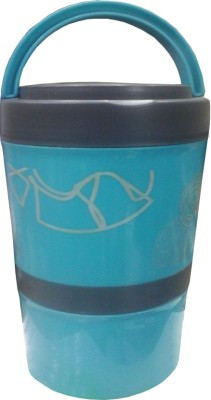 Tuelip TUELIP TWO LAYER 1300ml STEEL OVAL 2 Containers Lunch Box
