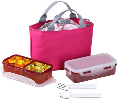 Divsam Moyam Leakproof Tiffin Pack & 2 Containers Lunch Box