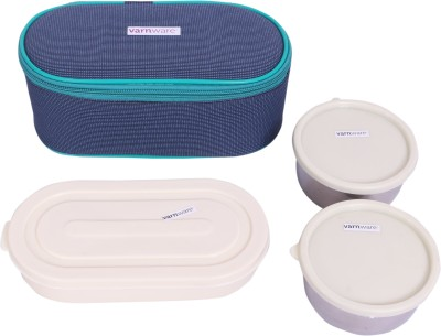 Varnware VRNBLUBX003 3 Containers Lunch Box