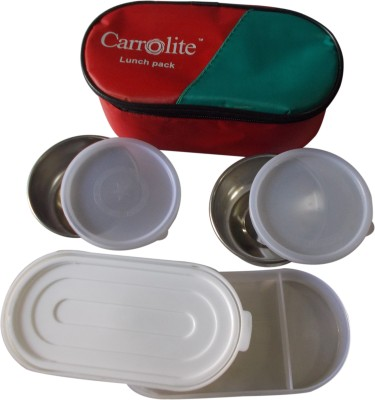 Carrolite Economy Lunchbox Red 3 Containers Lunch Box