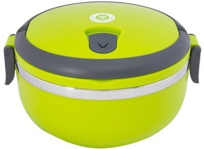 Homio Single Layer Round Green 1 Containers Lunch Box(700 ml)