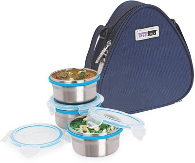 Steel Lock TIFFIN 1231 3 Containers Lunch Box