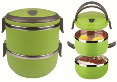 Blessed Layer Multiple Lock-Green 2 Containers Lunch Box
