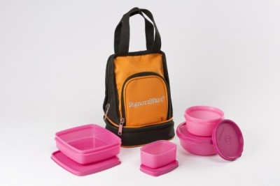 Signoraware Carry -Pink 4 Containers Lunch Box