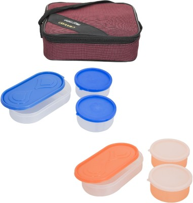 Carrolite Combo Metro Marron With Container 6 Containers Lunch Box
