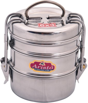 Aristo Tiffin 6X3 3 Containers Lunch Box(370 ml)