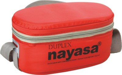 Nayasa Duplex Red 3 Containers Lunch Box(350 ml)