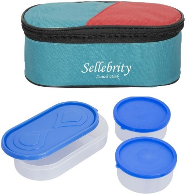 Sellebrity Best Green 3 in 1 3 Containers Lunch Box(650 ml)