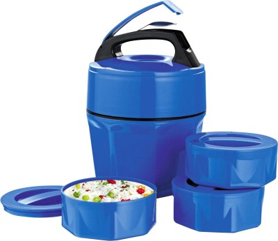 DIZIONARIO Plastic Microwaveable 3 Containers - H86BL 3 Containers Lunch Box