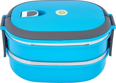 Homio Double Layer Oval 2 Containers Lunch Box
