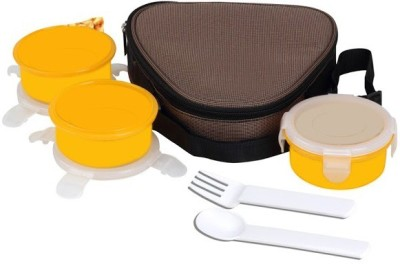 Icable Three Steel Containers 300ml (With spoon & fork) 3 Containers Lunch Box