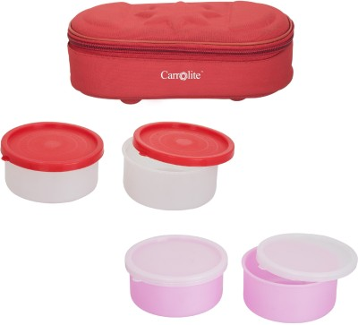 Carrolite Combo Modish Red With 2 Extra Boxes 4 Containers Lunch Box