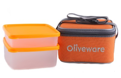 Oliveware LB#49orange 2 Containers Lunch Box