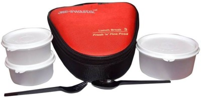 Me Swastik LUNCH BREAK3 3 Containers Lunch Box