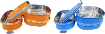 Blue Birds Blue bird 3 layer lunch box 3 Containers Lunch Box