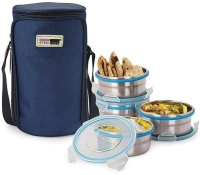 Steel Lock Hl-1441 4 Containers Lunch Box