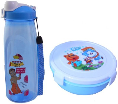 Infinxt Stylish Happy Kids Blue 1 Containers Lunch Box
