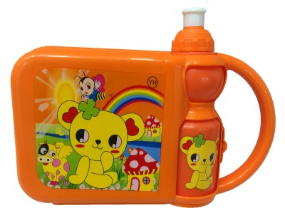 Gayatri Creations ORANGE KIDS SET 2 Containers Lunch Box