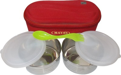Carrolite Maya Modish Deluxe Red 2 Containers Lunch Box