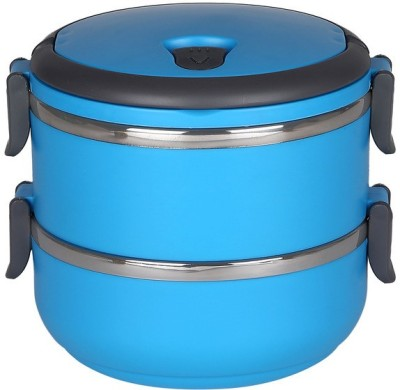Cosmosgalaxy Layer Multiple Lock-Blue 2 Containers Lunch Box