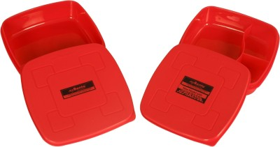 myBento SQR & split 2 Containers Lunch Box