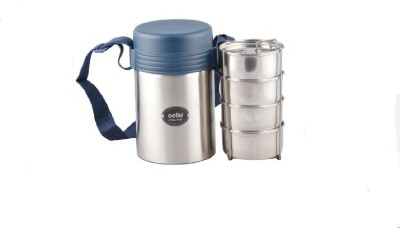 Cello World STEEL KING 4 4 Containers Lunch Box