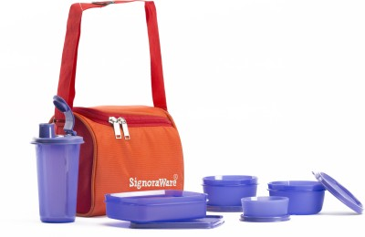 Signoraware Best Lunch (Spicy) lunch with Bag 5 Containers Lunch Box