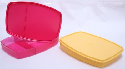 Tupperware Classic Slim Lunch 2 Containers Lunch Box