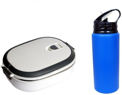i-gadgets White Insulated with Metal 600ml Bottle set 1 Containers Lunch Box