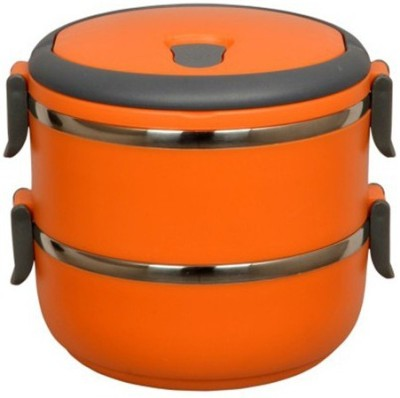 Blessed Layer Multiple Lock-Orange 2 Containers Lunch Box