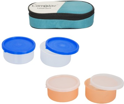 Carrolite Combo Green With 2 Container 4 Containers Lunch Box