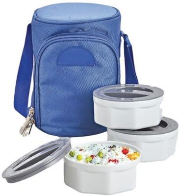Empreus Power Plus Zippy Bag Plastic Microwaveable 3 Containers Lunch Box