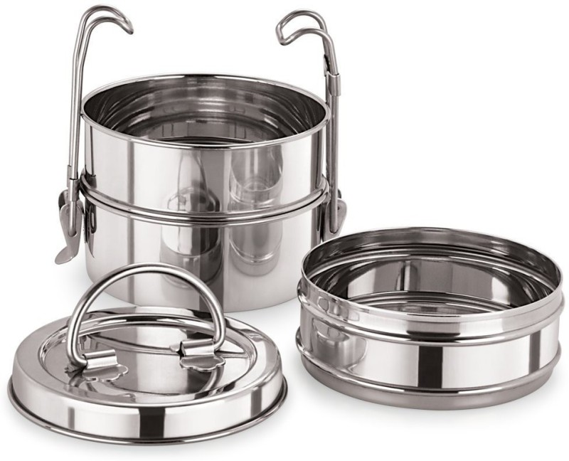 Neelam Stainless Steel Tiffin Sada, 8x3 3 Containers Lunch Box