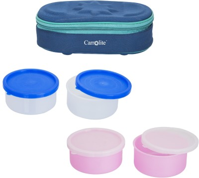 Carrolite Combo Modish Blue With Container 4 Containers Lunch Box