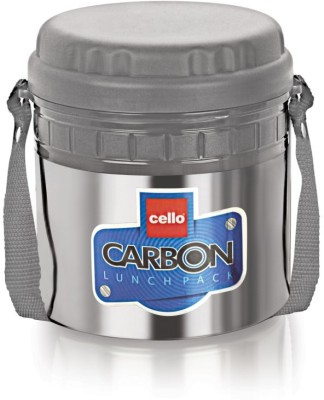 Cello World Carbon2-Gray 2 Containers Lunch Box
