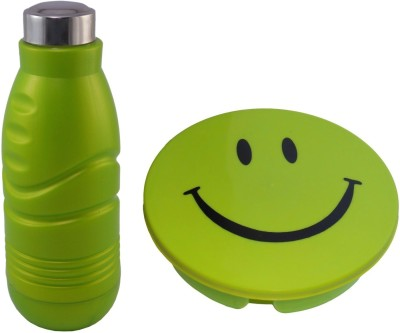 Infinxt Stylish Smiley Green 1 Containers Lunch Box