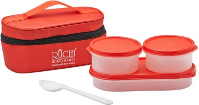 Ruchi Food Fresh Tiffin Set - Red 2 Containers Lunch Box