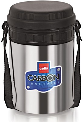 Cello World Carbon Black 4 Containers Lunch Box