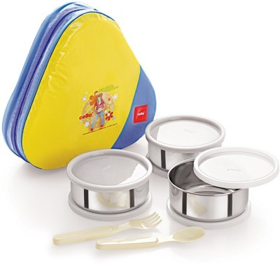 Cello World Eat And Eat 3 Containers Lunch Box