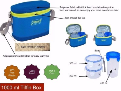 Coleman Tiffin 1000 . 3 Containers Lunch Box