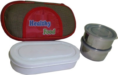 De BlueMix High Insulated Thermal Tiffin With Stainless Steel 3 Containers Lunch Box