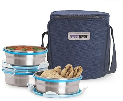 Steel Lock HL 1331 3 Containers Lunch Box