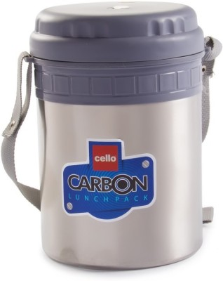 Cello World Carbon 4 Containers Lunch Box