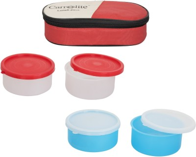 Carrolite Combo Red With 2 Container 4 Containers Lunch Box