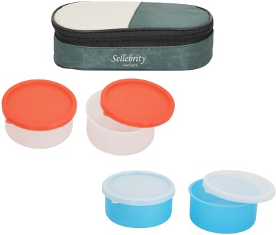 Sellebrity Rectangle 2 in 1 With 2 Boxes 4 Containers Lunch Box(800 ml)