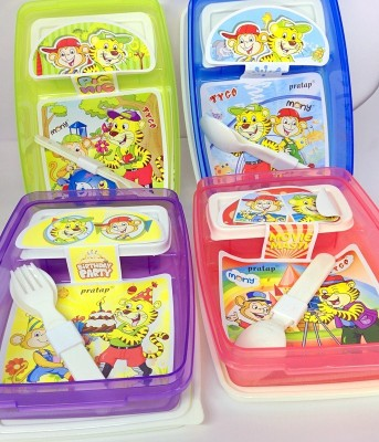 Pratap Hungry Kya (Set of 3) 1 Containers Lunch Box