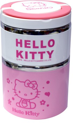 Blossoms Hello Kitty Cartoon 2 Containers Lunch Box