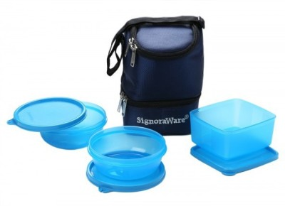 Signoraware Elegant Lunch Box 3 Containers Lunch Box