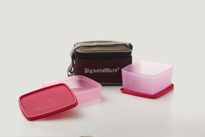 Signoraware Quick Carry Lunch box (with Bag) 2 Containers Lunch Box