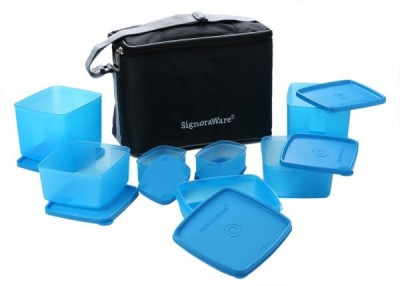 Signoraware Picnic Lunch Box - Blue (3250ml) 7 Containers Lunch Box